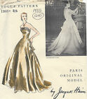 1955 Vintage VOGUE Sewing Pattern B34 DRESS EVENING GOWN 1290 By JACQUES HEIM