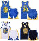 STEPHEN CURRY 30 KIDS BOYS YOUTH BASKETBALL JERSEY W SHORT SET GOLDEN STATE