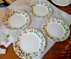 SET OF 4 CORELLE EVERGREEN ROSE 8 1/2