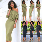 Fashion Womens Casual One Shoulder Bandage Bodycon Evening Party Cocktail Dress