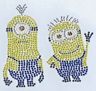 Minions Iron On Hot Fix Rhinestone Bling Transfer Motif