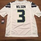 Seattle Seahawks Russell Wilson AUTHENTIC Men's On Field White Jersey Brand New