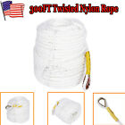 1 2x300 Twisted Braided Nylon Anchor Rope Line With Thimble Boat Rode US Stock