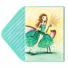 Papyrus CARD Happy Birthday Bella Pilar Emerald Girl on Chaise GORGEOUS