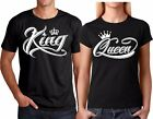 King OR Queen NEW VALENTINES Christmas Couple matching funny cute T Shirts
