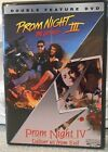 Prom Night 3  4 Double Feature DVD 2003 RARE HORROR 90S MINT DISC W INSERT