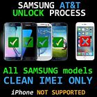 Premium UNLOCK SERVICE ATT IPHONE 7 P6 6+ 6S 5 4 SE s4 s5 s6 s7 s8  all Notes