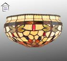 Dragonfly Stained Glass Tiffany Style Wall Light Comes With Wall Fittings