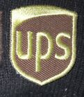 Embroidered patch brown twill 75 embroidery One inch sew on or iron on