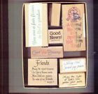Craft Art Card Paper Scrap Book Rubber Stamp Friend Religious God Blessing