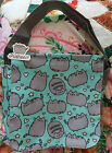 NWT Pusheen the Cat Stars  Hearts Ocean Blue Messenger Crossbody Bag FREE SHIP
