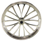 Manhattan Polished CNC 26 x 35 Front Wheel for Harley  Custom Models