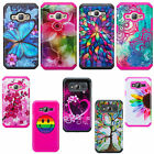 Samsung Galaxy Phone Models Slim Dual Layered Hybrid Shock Resistant Case Cover