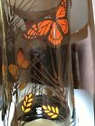 4 Vintage Libbey Monarch Butterfly Glasses ~ 12 oz Free Shipping