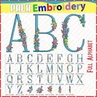 Full Alphabet Font Letters Floral Monogram Embroidery Designs Sewing Brother pes
