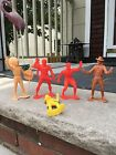 Vintage 1967 Action Figure by Louis Marx  Company Lot Of 5