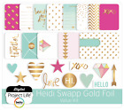 PROJECT LIFE HEIDI SWAPP GOLD FOIL Value Kit 130 Cards  Chipboard Save 40