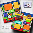 LEGO block BOY SCRAPBOOK PAGES printed layout paper piecing legos BY CHERRY