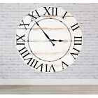 BrandtWorks American Charm Oversized Wall Clock White 36W x 36H in