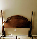 Solid Cherry Queen Size Spiral Tall Poster Bed Headboard