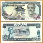 Zambia (1989-1991) GEM UNC 10 Kwacha Banknote Paper Money Bill P- 31b