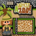 WHAT A ZOO girl 2 premade scrapbook pages 3D paper piecing layout album CHERRY