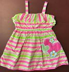 Youngland Toddler Girls Striped Summer Dress w Heart Applique Size 2T