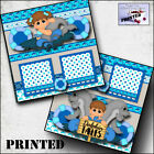 DOLPHIN TALES boy girl printed 2 premade scrapbook pages paper layout BY CHERRY