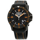 Wenger Swiss Military Black Dial Silicone Strap Men's Watch 79031