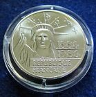 1986 FRANCE - 100 FRANCS - 100 YRS OF STATURE OF LIBERTY - PIEFORT SILVER