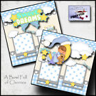 SWEET DREAMS BABY BOY PRINTED 2 premade scrapbook pages paper piecing CHERRY