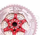 2017 Sunrace 11 50T 11 Speed CSMX8 Cassette Bicycle Wide Ratio MTB Freewheel Sil