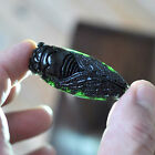 Chinese Exquisite green jade Hand-Carved pendant cicada