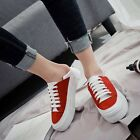 Womens Fashion Platform Creepers Lace Up Round Toe Athletic Shoes Sport Sneakers