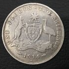1914 H  Australian One Florin Two Shillings  Silver  coin rare $$$