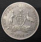1916  Australian One Florin Two Shillings  Silver  coin rare $$$