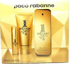 1 Million Paco Rabanne 3.4 oz.EDT Spray+3.4S/Gel+10 ml. Travel Set.Sealed Box.