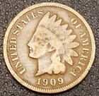 1909 Indian Head Penny Nice Coin For Your Collection Free Shipping (A)