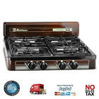 Burner Stove Top Outdoor Cooking Propane Gas Portable Black Camping Griddle NEW