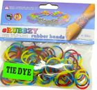 Rubbzy 100 pc Tie Dye Rubber Bands Red Yellow Blue and Green 913