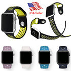 Replacement Sports Silicone Watch Band for Apple Watch Nike+ iWatch Series 3 2 1