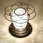 138 Vintage 50s 60s Ceiling Light glass  Fixture Mid-Century retro 1 of 4