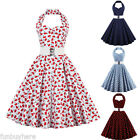 50s 60s Vintage Style Pinup Retro Housewife Evening Cocktail Party Swing Dress