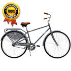 Columbia Streamliner 700C Men's Road Bike Grey Classic City Bicycle Single Speed
