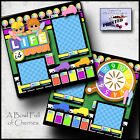 LIFE IS GOOD the game of life 2 premade scrapbook printed pages paper CHERRY