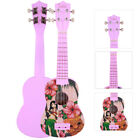 New 21 Glarry Hawaii Girl 12 Frets Basswood Soprano Ukulele Musical Instrument