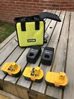 Ryobi ONE+ Battery X3 Plus X2 Chargers and bag