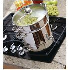 Stovetop Steam Juicer Stainless Steel Pot Fresh Fruit Juice Jelly Syrup Maker