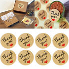 60Pcs Seals Kraft Paper Love Heart Stickers Thank YouWedding Favor Gift Label