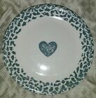 6 Tienshan Folk Craft Hearts Blue Sponge Heart Border Dinner Plates